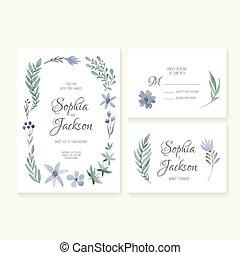 Wedding Cards Collection - Unique gentle vector wedding...