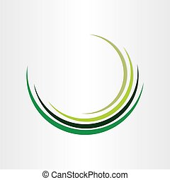 green wave abstract background design