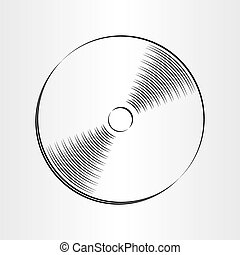 compact disc dvd cd icon design element