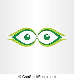 human eyes stylized icon