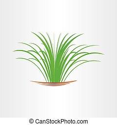 green grass abstract design element