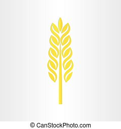 wheat grain stylized icon design