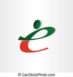 small letter e man icon design - small letter e man icon red...
