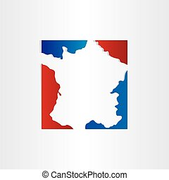france map red blue design background