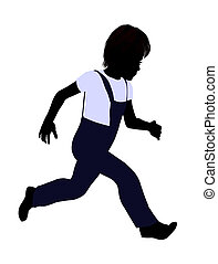 Caucasian Boy Illustration Silhouette - Caucasian boy...
