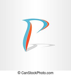 letter p stylized icon design