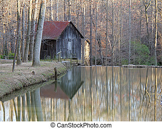 Historic Grist Mill - Georgia - Historic Grist Mill with...
