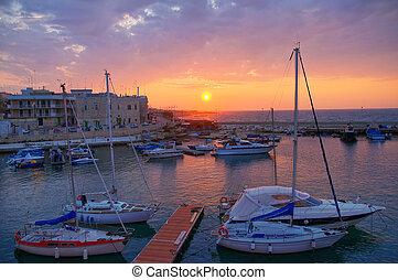 Panoramic view of Giovinazzo Puglia Italy
