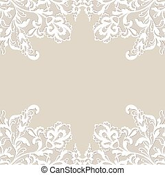 White flower frame. - White flower frame, lace flower...