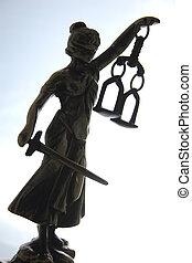 símbolo, de, ley, y, justice.,