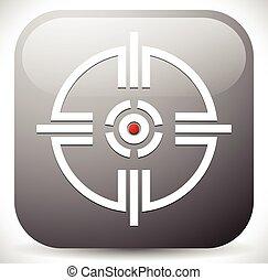 Crosshair, Reticle Target Mark Icon Crosshair, Reticle...