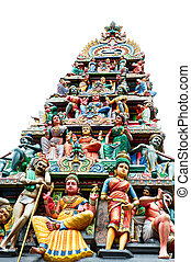 oldest hindu temple Sri Mariamman in Singapore - Detail of...