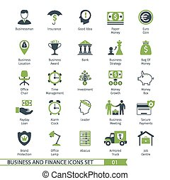 Business Set 01 - Business and FIinance Icons Set 01