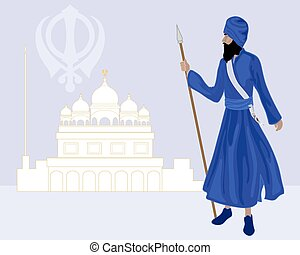 khalsa sikh - a vector illustration in eps 10 format of a...