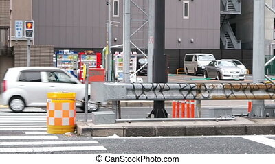 regular traffic street view Osaka - regular traffic street...