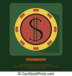 Casino, Poker chip vector design, Eps 10