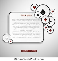 Vector version. Poker frame with cards as a symbol of luck.