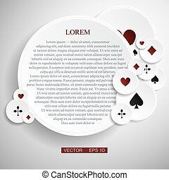 Vector version. Poker frame with cards as a symbol of luck....