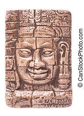 Cambodian Fridge Magnet Isolated - Isolated macro image of a...