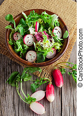 Fresh salad with radishes - Fresh spring salad with radishes...