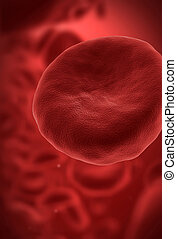 Red blood cell - Human blood cell with red blood cells in...