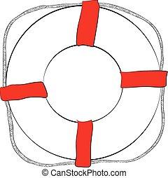 Life buoy sketch