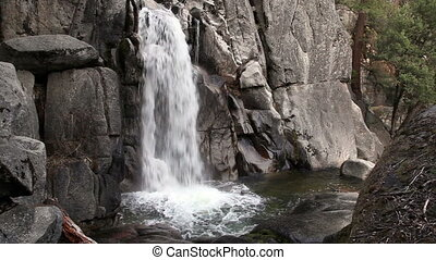 Chilnualna Trail Falls 1 Yosemite - Lower Falls On...