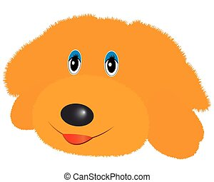 doggy soft toy yellow color on a white background