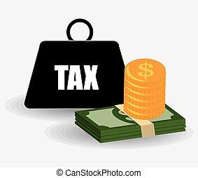 Taxes design. - Taxes design over white background, vector...
