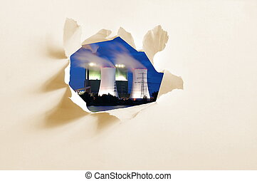hole in paper and industry