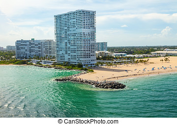 Fort Lauderdale, Florida - Intracoastal waterway leading to...