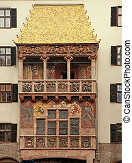 Golden roof in Innsbruck, Austria - The house with the...