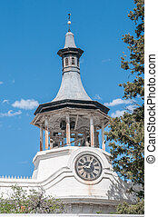 Steeple of the Dutch Reformed Mission Church in Beaufort West