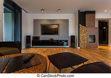 Classy living room in cosy apartment