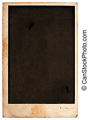 vintage stained blank photo card