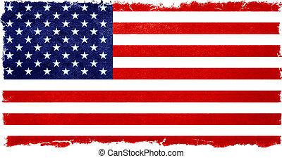 old designed grunge vintage american flag - old designed...