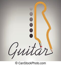 Guitar Pencil Writes its Own Name - A Guitar Pencil Writes...