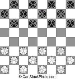 Checkers - The starting position on the playing board