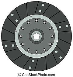 Clutch disk on a white background