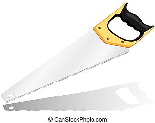 Hacksaw on a white background