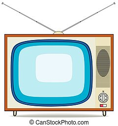 Retro TV set - Vector illustration of a old TV set