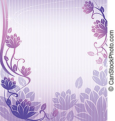 flower pattern - illustration drawing of beautiful purple...