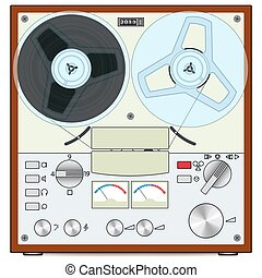 Tape recorder - The retro audio tape recorder