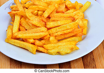 Fried potatoes - fried potatoes in dish