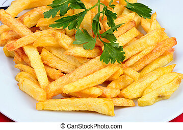 Fried potatoes - fried potatoes in dish