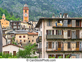Picturesque Tende village in southeastern France