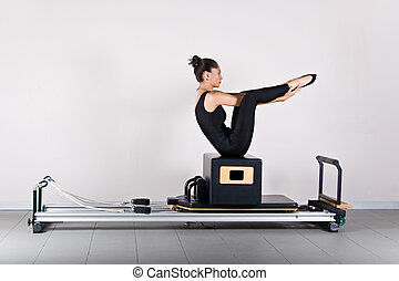 Gymnastics pilates - Seal exercise.Pilates gymnastics is a...