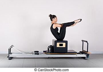 Gymnastics pilates - Seal exercise.Pilates gymnastics is a...