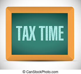 tax time board sign concept illustration