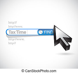 tax time search bar sign illustration design over white